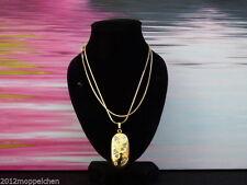 Ovale Modeschmuck-Halsketten aus Gelbgold