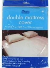 WATERPROOF Double Mattress Protector Matress Sheet Wet Guard Cover NEW