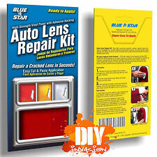 Blue Star Automotive Car Auto Lens Repair Kit Red Strip Panel Tail Head Light