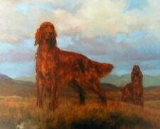 More details for frederick j haycock teamwork - irish setters gun dogs shooting prints art field