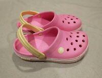 CROCS Jibbitz Classic Pink Slip on Clogs Toddler Girls Size 12/13 C