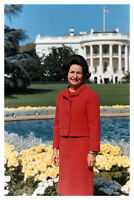 Lady Bird Johnson 1967 White House Portrait 8 x 12 Silver Halide Photo