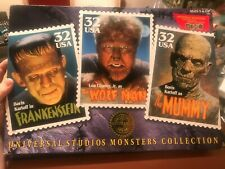 Universal Studios Monsters Collection, Frankenstein, Wolf Man, Mummy, Stamps