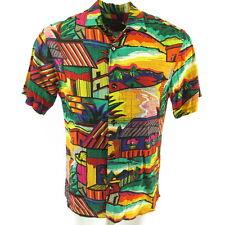 Vintage 80s Jams World Hawaiian Shirt Mens S South America Vibrant Print