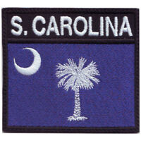 South Carolina Flag Badge Embroidered Patch
