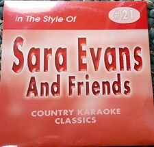 SARA EVANS AND FRIENDS CDG KARAOKE COUNTRY CLASSICS CKC #21 CD+G 17 SONGS NEW