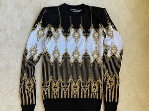 Balmain Paris, Gold, Black & White Knitted Pull-Over Size 36/S, As-New Authentic