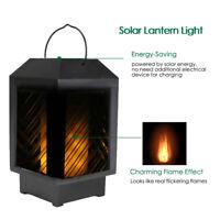 LED Solar Flamme Lampe Laterne Solarleuchte Flackernde Hängeleuchte Außen DE