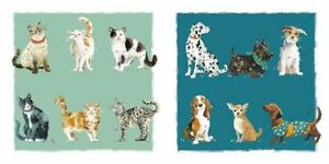 Note Card - 8 x Notelets - Cats & Dogs - Wildlife Ling Design Gift Quality NEW