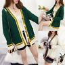 Autumn Winter Women Cardigan Oversize Chunky Knitted Sweater Coat Jacket Outwear
