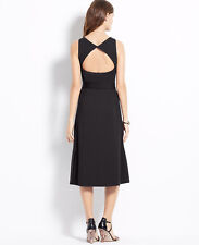 Ann Taylor - Size 6 Black Ponte Cut Out Back Dress $129.00  (327889H)