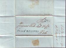 """PORTUGAL 1842 """"20 reis""""  ENTIRE TO PORTO"""