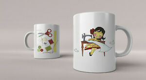 Mug with Dressmaker / Sewing 02 - Free 1st Class p&p - Great Christmas Gift