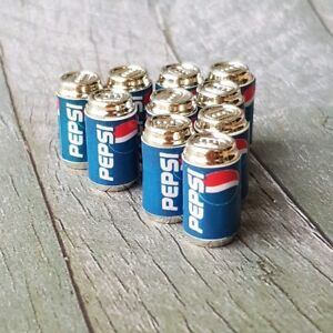 10x Dollhouse Miniature PEPSI Soda Can Canned Beverage Drink Collectibles Decor