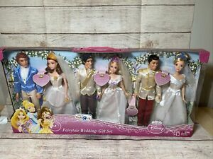 Mattel Barbie Disney Princess Fairytale Weddings Giftset X5365 NEW