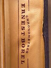 ERNEST BOREL Chronometres, vintage wristwatch box short, Swiss Made