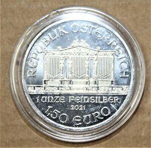 Republik Osterreich 2021 1.50euro 1oz .999 silver coin in protective case