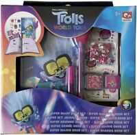 Trolls World Tour Tiny Diamond Diary Decoration Set Make Your Own Journal & Pen