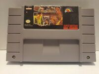 Super Wrestle Mania Super Nintendo SNES Tested and Working