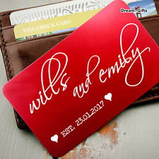 Personalised Couple Love Wallet Insert Men Gifts for Him Her Wife Girlfriend W27