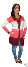 Acrylic Medium Knit Striped Plus Size Jumpers & Cardigans for Women