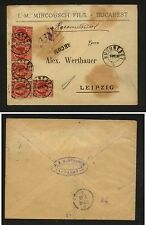 Romania  nice  registered cover  to  Germany   1890             KL0716