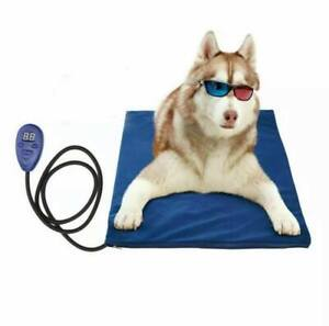 Heated Pet Bed Warmer Dog Cat Electric Heating Pad Cover Soft fleece Cover