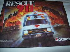Pinball T-Shirt RESCUE 911 ORIGINAL 1994 New Tags Official Size Large GOTTLIEB