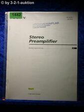 Sony Bedienungsanleitung TA E1 Pre Amplifier (#1442)