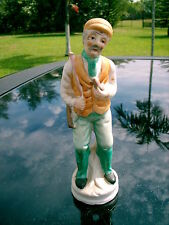 Old Man Hunter With Rifle Cap On Head Figurine Handpainted Tall Sad One