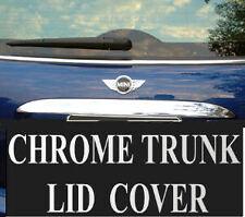 02 03 04 05 06 Mini Cooper Chrome Rear Trunk Edge Lid Spoiler Bezel Cover Trim
