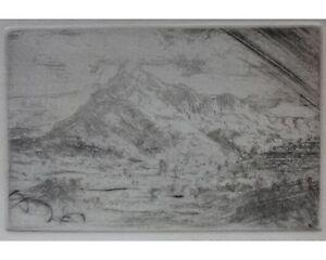 Wong Moo Chew: Signierte Original Aquatinta Radierung mit Neujahrsguß 1-1982