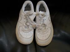 NIKE AIR FORCE 1 LOW SHOES TD SZ 9C 314194-117 WHITE FREE USA SHIPPING