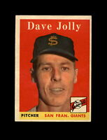 1958 Topps Baseball #183 Dave Jolly (Gaints) EXMT
