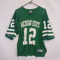 Vtg Michigan State Spartans Football Jersey 12 Russell USA Made Sz 48 L XL MSU