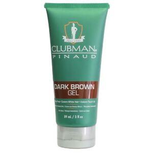 Clubman Pinaud Dark Brown Hair, Beard, Moustache Gel 89ml cover grey hair