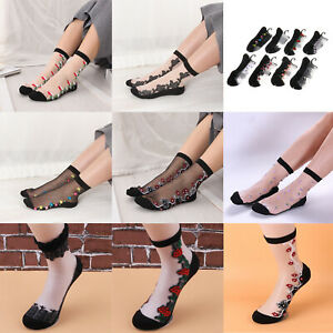 8 x Women Lady Girls Crystal Lace Elastic Ankle Summer Breathability Socks