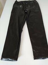 Vinyl Ladies Black Fashion Trousers Size 10