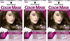3x Schwarzkopf Color Mask Permanent Colour 600 Light Brown