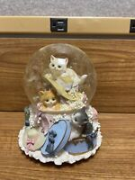 San Francisco Music Box Company Snow Globe Cat in Hat Memories from Cats Musical