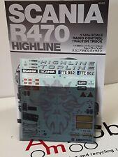 1/14 Tamiya Scania R470 Highline 4x2 Truck- Decals & Instructions