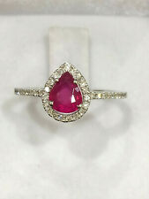FULLY CERTIFIED Premium Quality 1 Carat Burma Ruby Ring 18K Gold and Diamonds