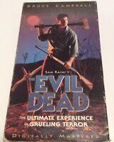 Sam Raimi's THE EVIL DEAD Digitally Mastered Bruce Campbell HORROR VHS Movie