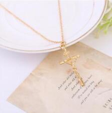 Religious Style Geometric Rosary Cross Pendant Chain Alloy Necklace Jewelry