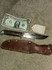 1940's~WESTERN~BOULDER COLO.~PAT.1967479~HUNTING & FIGHTING KNIFE w/ORIG. SHEATH