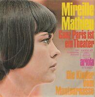 Schallplatte Mireille Mathieu Ganz Paris ist ein Theater Jahr 1970 Montparnas