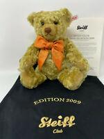 Steiff Club 420979 Annual Edition Teddy Bear 2009 Mohair 11.81 inches (30cm)