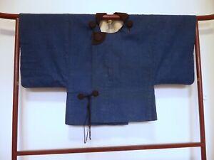 Vintage Japanese Indigo Cotton Dochugi Coat, A Traveler's Jacket, Hanten