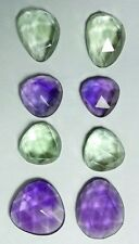 Natural Amethyst, green  34.95ct 55mm Brazil,to be made earring rose cut, 535