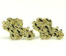 2.00 Grams Mens Ladies 10k Real Yellow Gold Cluster Nugget Medium Earrings